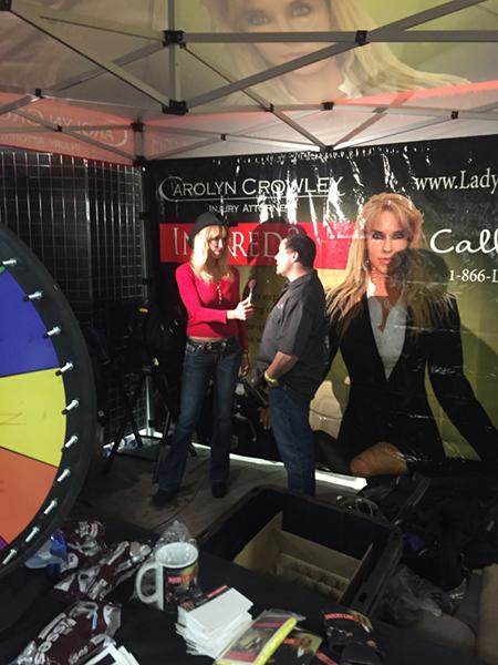 Carolyn Crowley Talking with a Customer