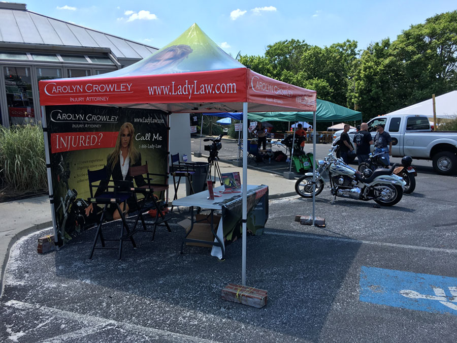 Lady Law's Tent at Hagerstown Bike Week